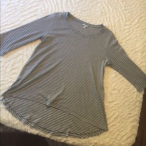 Gray An White Striped Sonoma Shirt